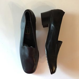 Cole Haan Block Heel Black Loafers